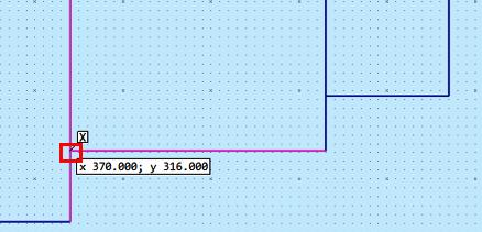 寸法線の始点指定
