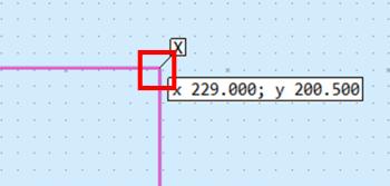 線の終点を指定