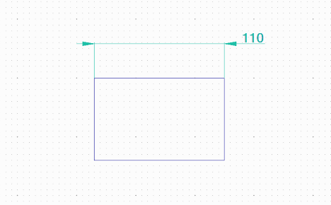 寸法の文字列の位置変更