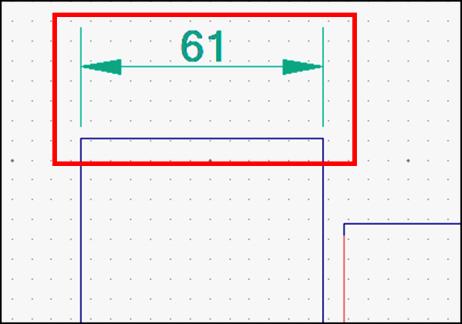 寸法補助線の高さ調整