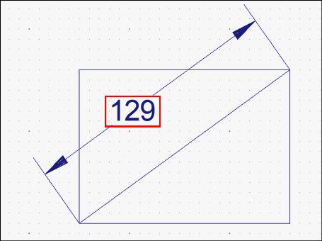 対角寸法の文字列の傾き変更