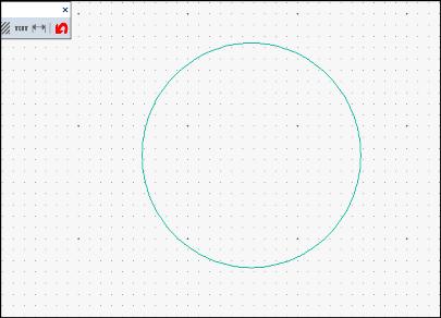 円の半径の寸法記入