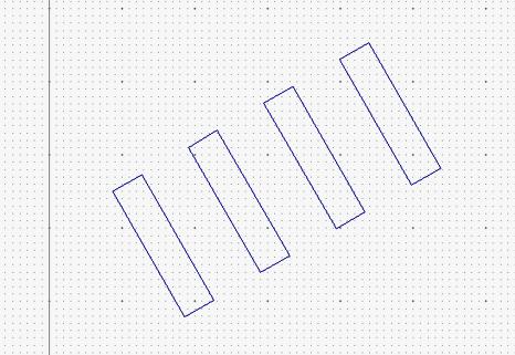 傾いた長方形のコピー作成
