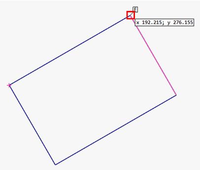 斜め方向の寸法線