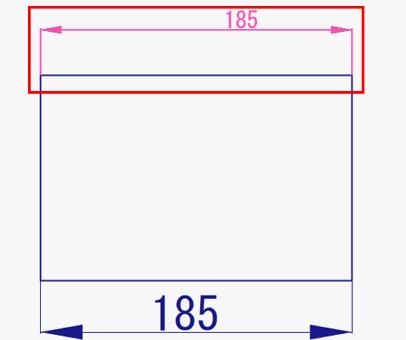 寸法文字列のスタイルの変更