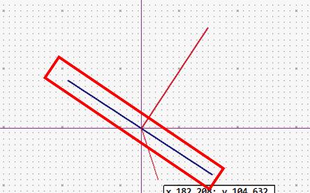 斜めの線に対し垂線を作成