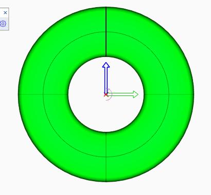 ドーナツ形状のソリッドの作成